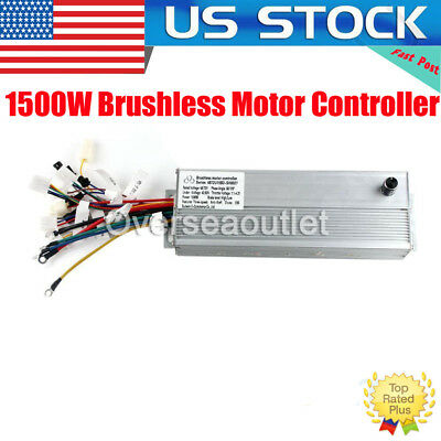 48V/72V Electric Bicycle Brushless Motor Controller for E-bike & Scooter 1500W