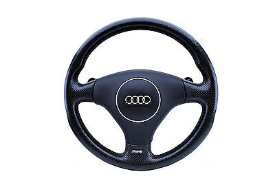 Audi RS6 Steering Wheel Paddle Shifters Airbag Perforated Leather OEM Genuine