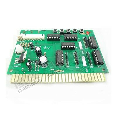 Jamma Interface to USB PC For MAME or Hyperspin Joystick w/ audio amplifier PCB