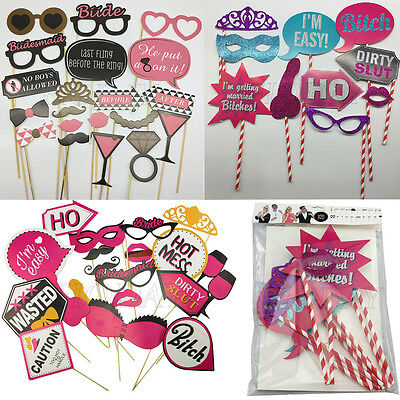 DIY Hen Party Night Game Single Lady Girls Selfie Party Photo Booth Kit Props