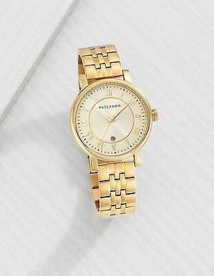 NEW Silpada Gilded Gold Link Watch T2956 Adjustable Stainless Steel