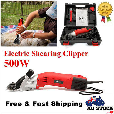 500W Electric Sheep Goats Shearing Clipper Shear Alpaca Farm Shear With Box