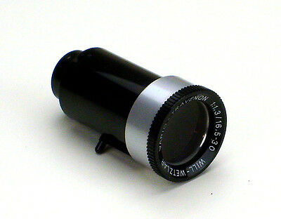 Lens for 8mm Bauer Film projector Vario Travenon 1:1,3 / 16,5-30 Will.Wetzlar