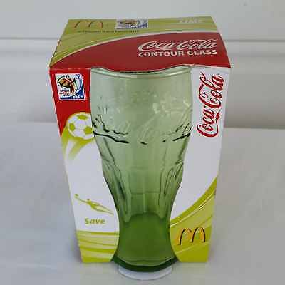 McDonalds Coke Promotional Glass Football World Cup 2010 South Africa Save Lime