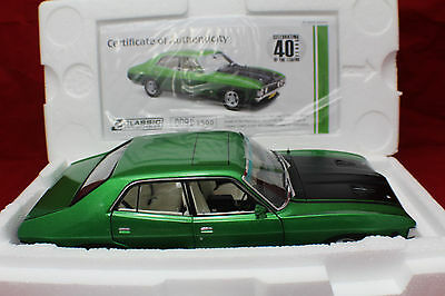 1-18 Classic Ford Falcon XA GT-HO Phase 4 Calypso Green Certificate #0091/1500.