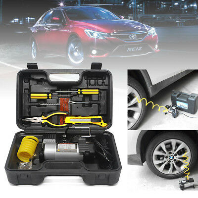 Heavy Duty Air Compressor Auto Inflator Pump With Large Volume +Tyre PatchT Tool
