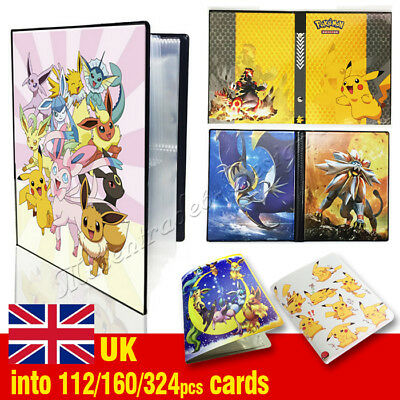 Pokemon Cards Album Book List Card Collectors 160/324Pcs Capacity Cards Holder