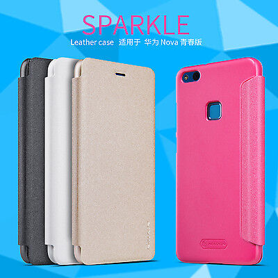 NILLKIN MatteCASE-Sparkle Leather Flip Stand Slim Case Cover For Huawei P10 Lite