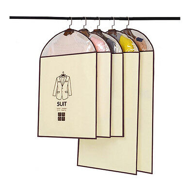 Dust Cover for Suit Dress Hanging Garment Coat Clothes Protector Bags Damp-proof