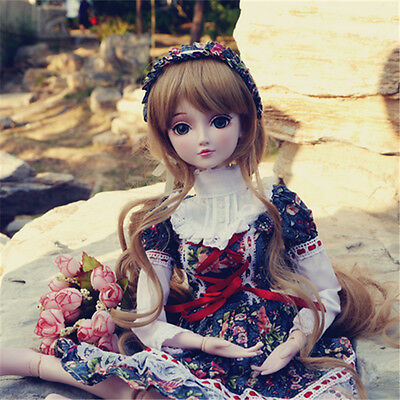 "24"" New 1/3 Handmade PVC BJD MSD Lifelike Doll Joint Dolls Baby Gift New Vivian"