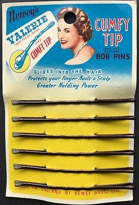 Rubber Tipped 1940s Made in England  VALERIE CUMFY TIP BOB PINS
