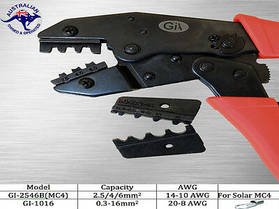 Crimping Plier (European Style) for non-insulated and  spare die for solar MC4