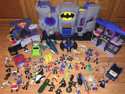 Lot Of 70 Fisher Price Imaginext DC Batman Lot Figures Plus! Must See!