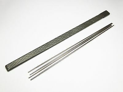Antique Victorian steel double ended needle case and needles