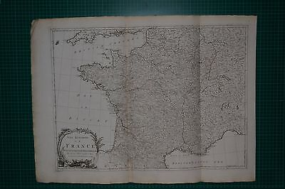 1788 The Kingdom Of France Map Divided According To Its 38 Military Governments
