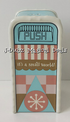 NEW Disney Parks It's a Small World Salt or Pepper Trash Can Shaker