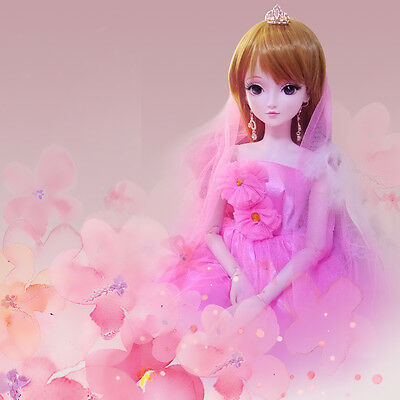 "24"" New 1/3 Handmade PVC BJD MSD Lifelike Doll Joint Dolls Baby Gift New Ashley"