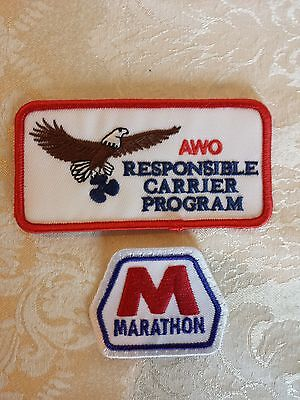 Marathon Embroidered Patch Oil Gas Service Station AWO Patch