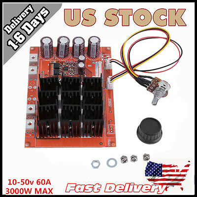 Dc 10-50V 60A High-Power Motor Speed Control Pwm Hho Rc Driver Controller Module