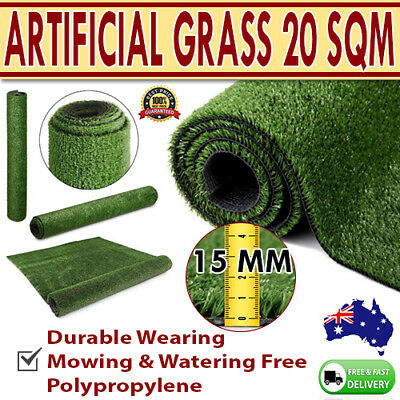 20 SQM Olive artifical Fake Imitation Grass Polypropylene Lawn Flooring 15mm