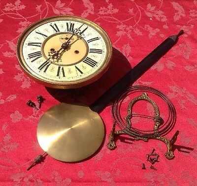 Twin Weight Vienna Regulator Movemen t With Pendulum Spares Repair