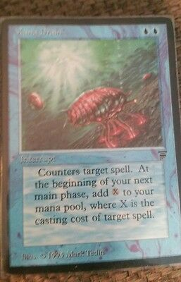 mtg magic the gathering english legends mana drain nm