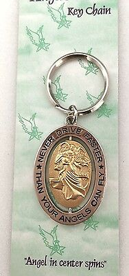 'Never Drive Faster Than Your Angels Can Fly' Angel Keyring 1111
