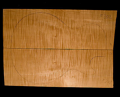 Flame Maple Guitar Top 5A - Bookmatched - 510/360/14.5mm (#F202)