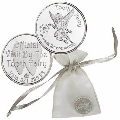 Official Visit From The Tooth Fairy 1/10 oz .999 Silver Round USA Made BU Coin