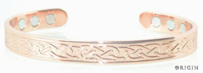 Magnetic New Celtic Copper Bracelet Arthritis Pain Relief Bangle Scb146