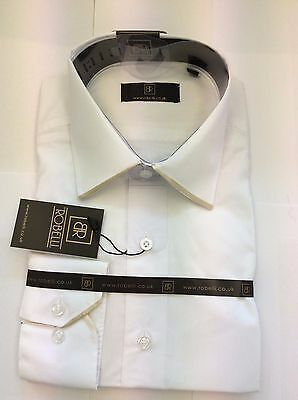 Brand New White With Gold Edge Collar  Shirt  By Robelli