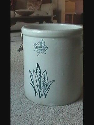 10 GALLON WESTERN STONEWARE CROCK W/Handles , Franklin WI Pick Up only