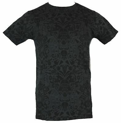 Star Wars Mens T-Shirt - Ornate All Over Darth Vader and Imperial Images Pattern