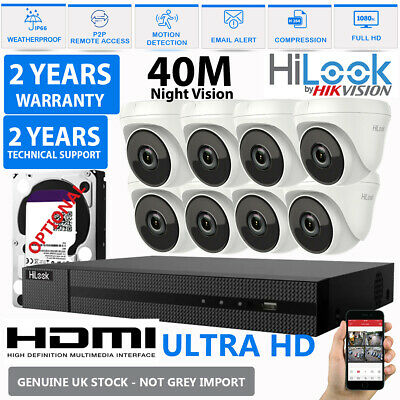Hikvision CCTV HD 1080P 2.4MP Night Vision Outdoor DVR Home Security System Kit