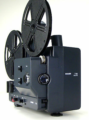 Super 8mm Normal 8mm Film projector Bauer T180 as a silent movie projector