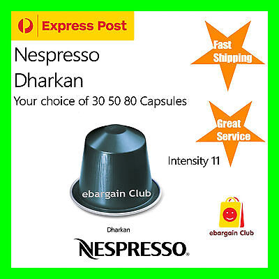 30 50 80 Capsules Nespresso Coffee Dharkan Pods Most Popular Flavour Best eBClub
