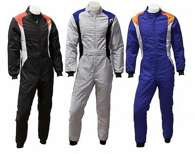 P1 Racewear PRO-3 Race, Rally Suit 3-Layer FIA 8856-2000 Black, Blue or Grey