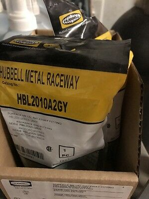 (2) Hubbell HBL2010A2GY surface metal raceway fitting