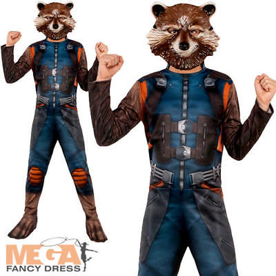 Rocket Boys Fancy Dress Guardians of the Galaxy Superhero Book Day Kids Costume
