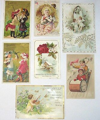 Antique Victorian Sewing Machine Trade Cards~White,National,Household,Standard++