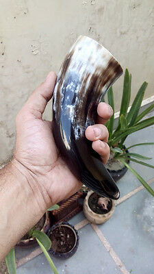 """Viking Drinking horn Cup Mug Glass  6"""" Baby Horn Beer Mead Wine Ale Pagan"""