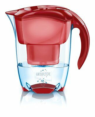 Brita Elemaris Cool 2.4L Fridge Water Filter Jug Red+1 Maxtra Filter