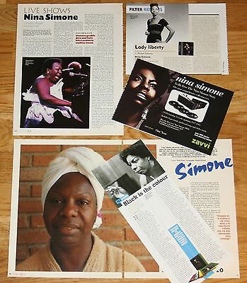 NINA SIMONE clippings 1980s/00s photos magazine articles