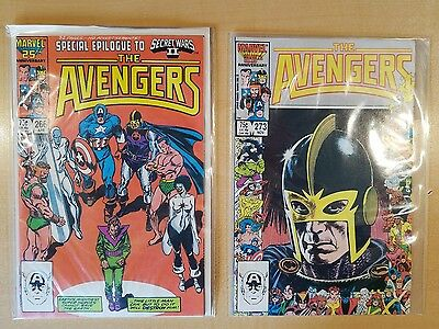 Marvel 1986 - The Avengers #266 & #273 - Both VF/NM, Bagged & Boarded
