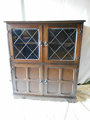 Oak Glazed Cabinet leaded Glass