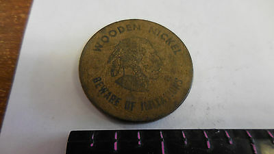 Silver Springs,Fla.  Six-Gun Territory rare old wooden nickel