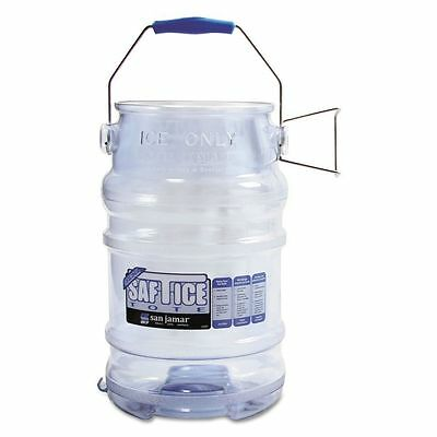SAN JAMAR Royal Industries Saf-T-Ice Ice Tote, 6-Gallon, clear, NEW!