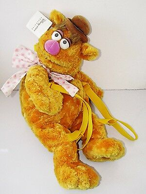 "Rare The Muppets Fozzie Bear   Disney Store Exclusive 22"" Character Backpack"