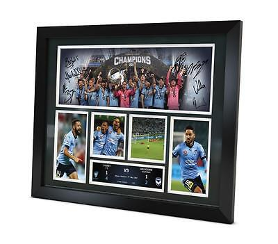 Sydney FC Signed 2017 Photo Memorabilia Champions Framed Limited Edition of 250