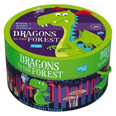 NEW SASSI Dragon in the Forest Book and Puzzle